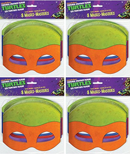 Paper Teenage Mutant Ninja Turtles Masks, Assorted 8ct -