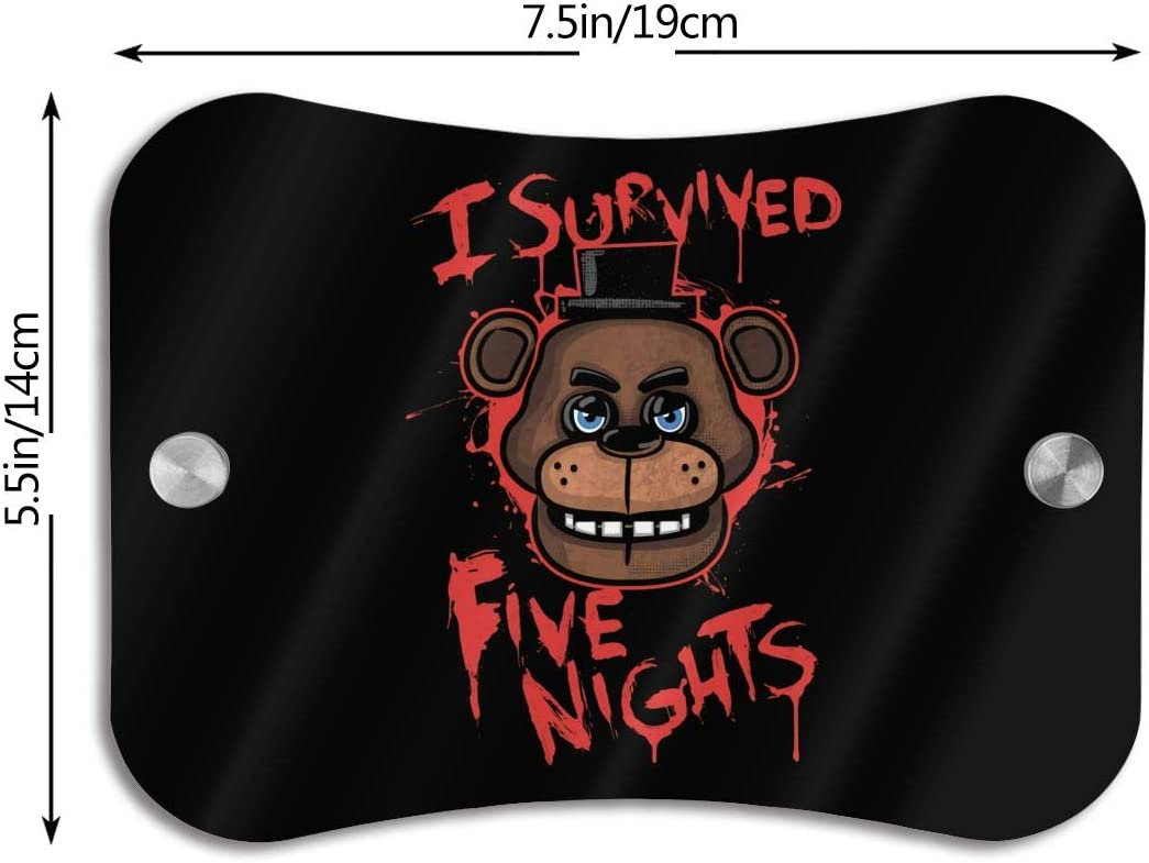 Strong and Beautiful Easy to Install Wehoiweh Five Nights at Freddys Door Sign is Fine in Workmanship for Friends and Family for Your Own Home. Durable