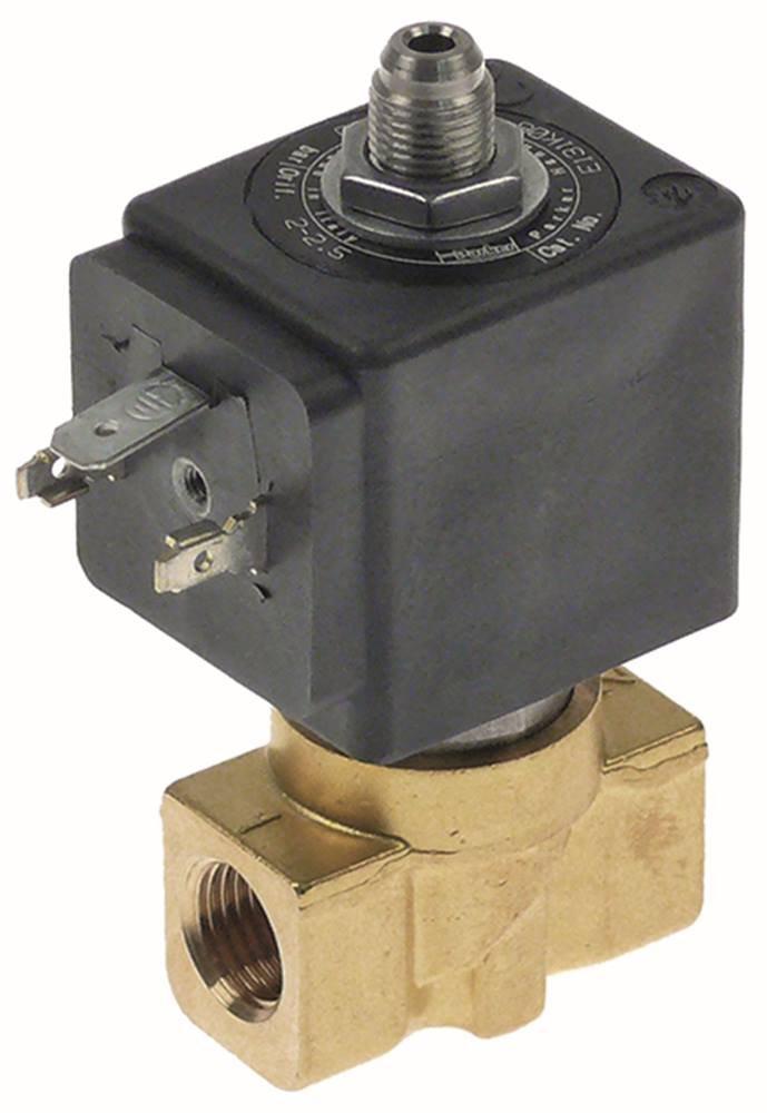 Lucifer de Parker Válvula de solenoide 24VAC DN 2,5mm de 3Vías conector 1/4'de 10hasta + 140°C ranuras hembra