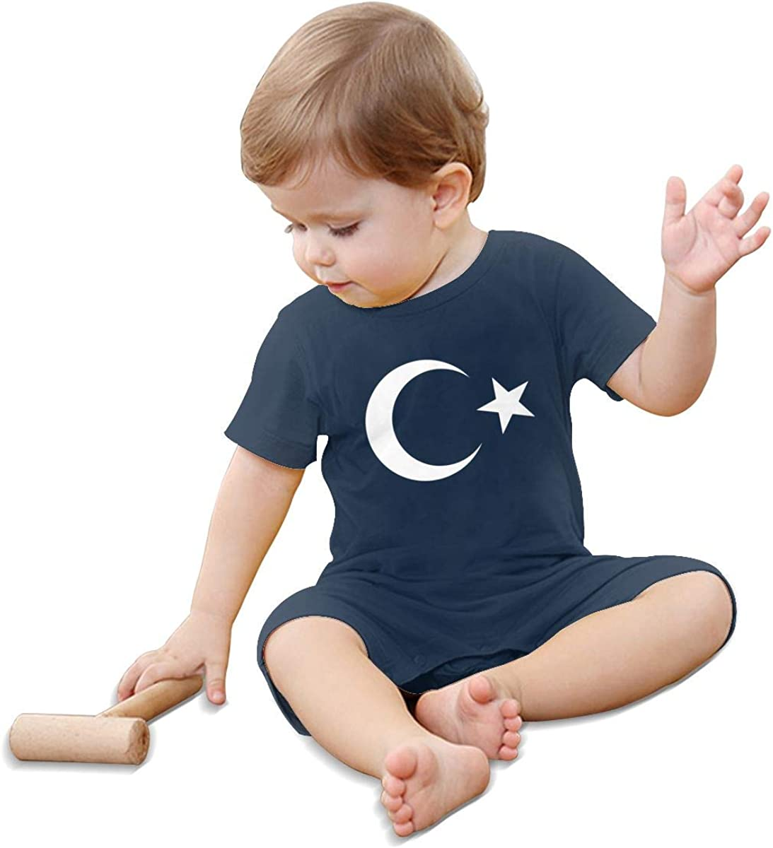 Mri-le1 Toddler Baby Boy Girl Organic Coverall Turkey Flag Symbol Baby Rompers