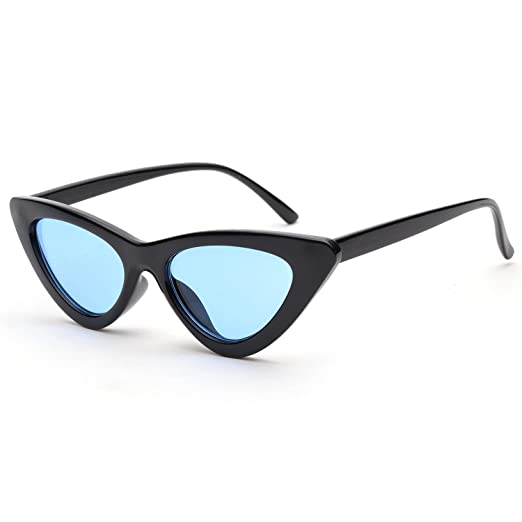 f012a2f477 Clout Goggles Cat Eye Sunglasses Vintage Mod Style Retro Kurt Cobain  Sunglasses Z3265(Black Blue)