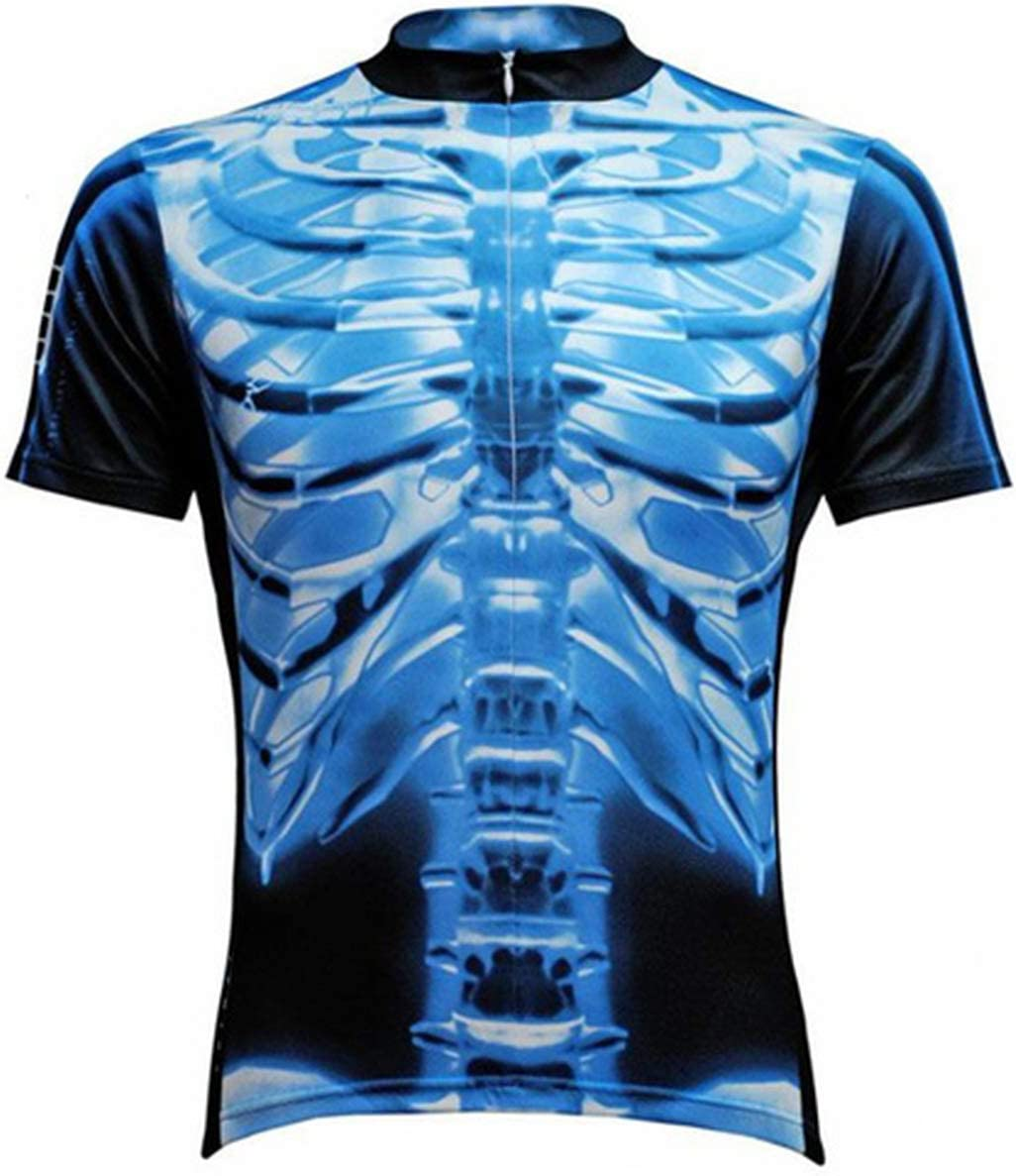 Primal Wear X-Ray Skeleton Cycling Jersey Mens Short Sleeve