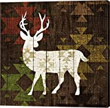 Southwest Lodge - Deer I by Michael Mullan Canvas Art Wall Picture, Gallery Wrap, 37 x 37 inches