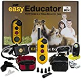 Bundle of 2 items - E-Collar - EZ-902 - 1/2 Mile Remote Wireless Rechargeable Waterproof Two Dog Trainer - Static, Vibration and Sound Stimulation Collar with PetsTEK Dog Training Clicker