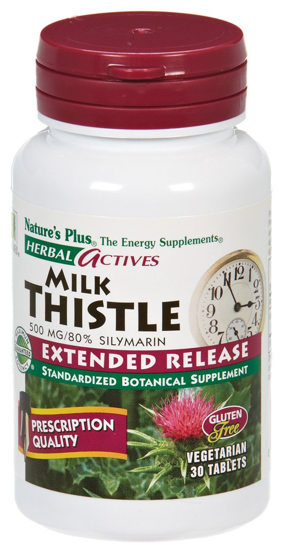 Nature s Plus – Milk Thistle Ha, 500 mg, 30 tablets