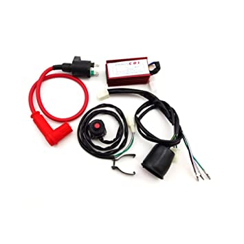 amazon com tc motor racing ignition coil ac cdi box wiring loom GMC Wiring Diagrams tc motor racing ignition coil ac cdi box wiring loom harness kill