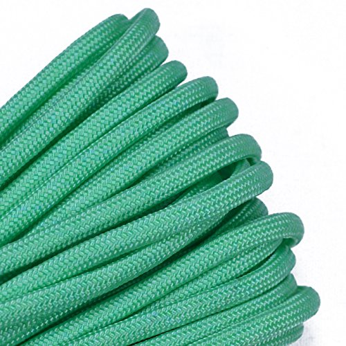 10', 25', 50', 100' Hanks & 250', 1000' Spools of Parachute 550 Cord Type III 7 Strand Paracord Well Over 300 Colors - Mint - 50 Feet ()