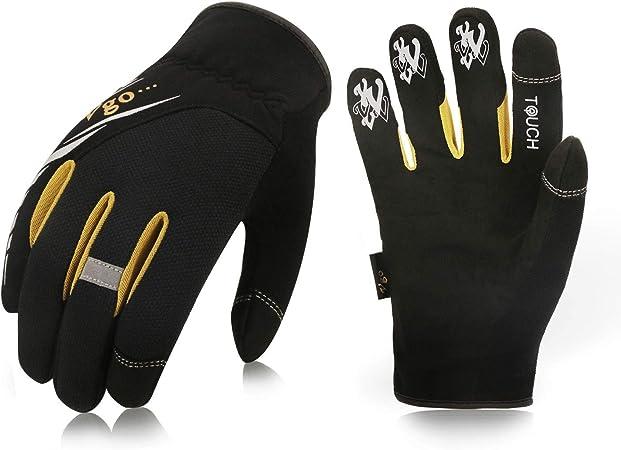 Men/'s Working Gloves Carpenter Builder Farmer Gloves Driving Touchscreen Gloves