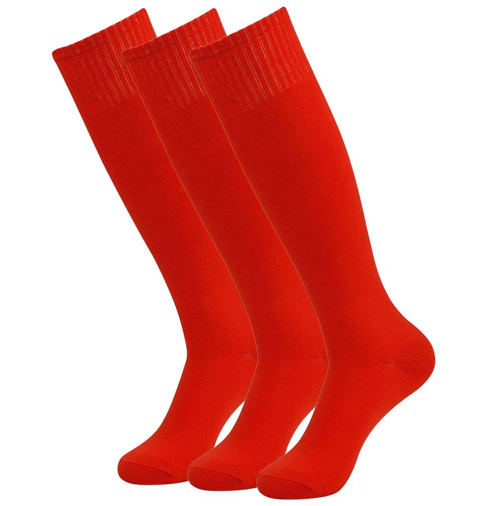 Feelingway SOCKSHOSIERY メンズ B076ZD9RQZ 3 Pairs-red 3 Pairs-red