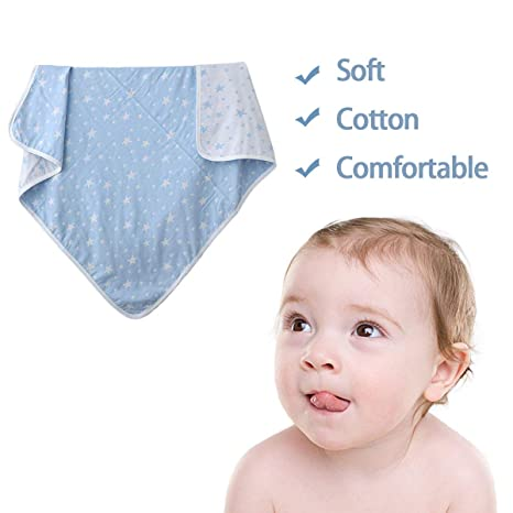 Manta de Bebé, LinLang Colcha Verano Algodón Toallas para Bebés Doble Gasas 120 * 150