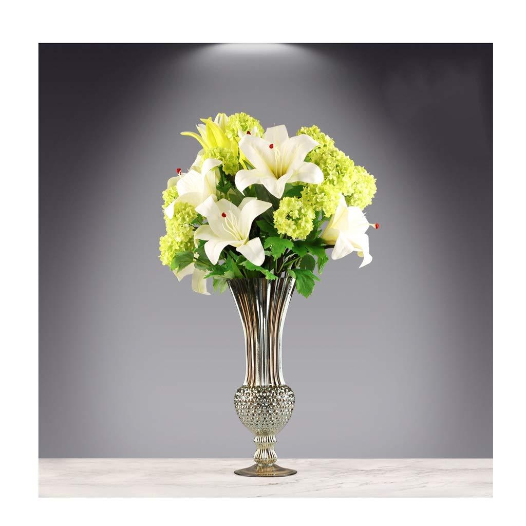 ガラス花瓶 現代の透明なガラス花瓶の装飾豪華な装飾 B07T18HMB9