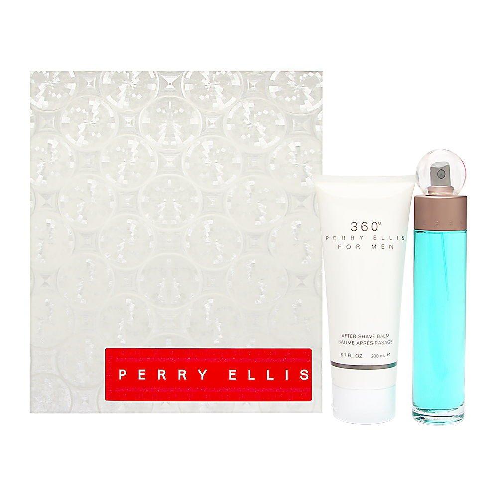 360 Degrees by Perry Ellis for Men 2 Piece Set Includes: 3.4 oz Eau de Toilette Spray + 6.7 oz After Shave Balm