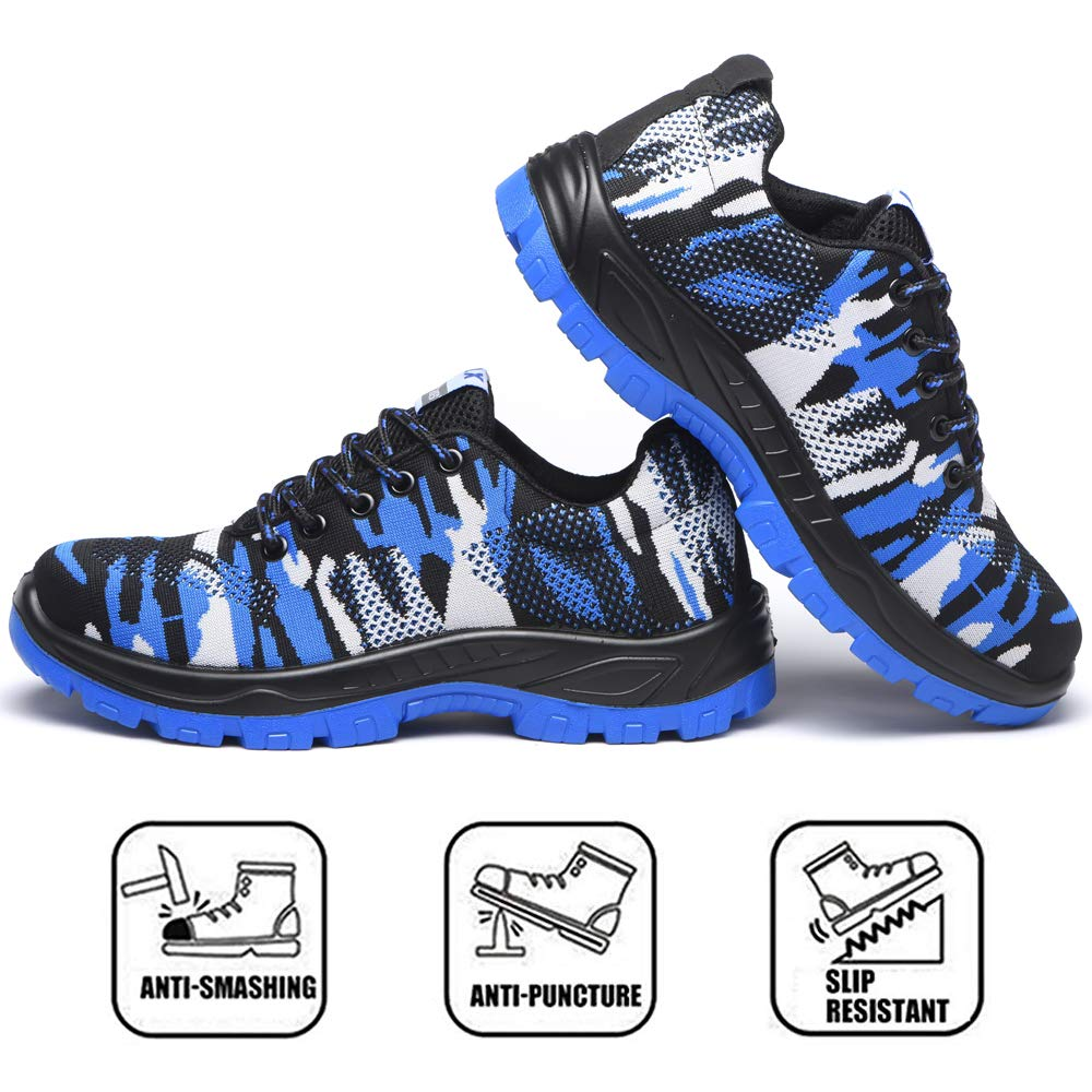 Mitudidi Chaussures de S/écurit/é Homme Femme Respirant L/ég/ère Basket de Travail avec Embout de Protection en Acier Legere Respirant