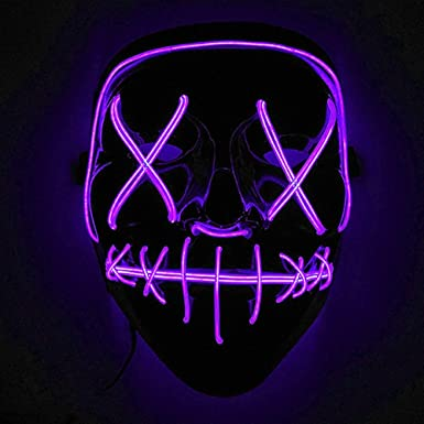 Immoch Halloween LED Máscaras Adultos LED Mask para la Fiesta de ...