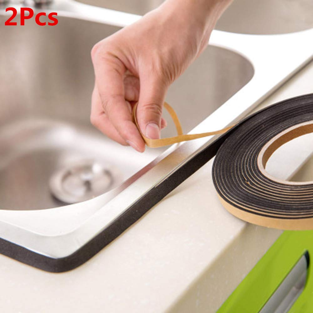 Waterproof Wall Sealing Tape Pulison Mold Proof Adhesive Tape Kitchen Bathroom All Weather Patch Tape Stretchy Sealing Tape for Roofing Patch Holes Cracks (LxW):3.2mx2.2cm/126''x0.86''