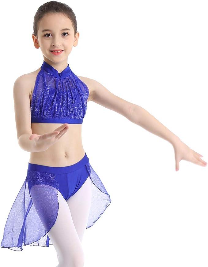 Dance Gear TCT Children/'s Cotton Lycra Short Sleeved Scoop Neck Crop Top