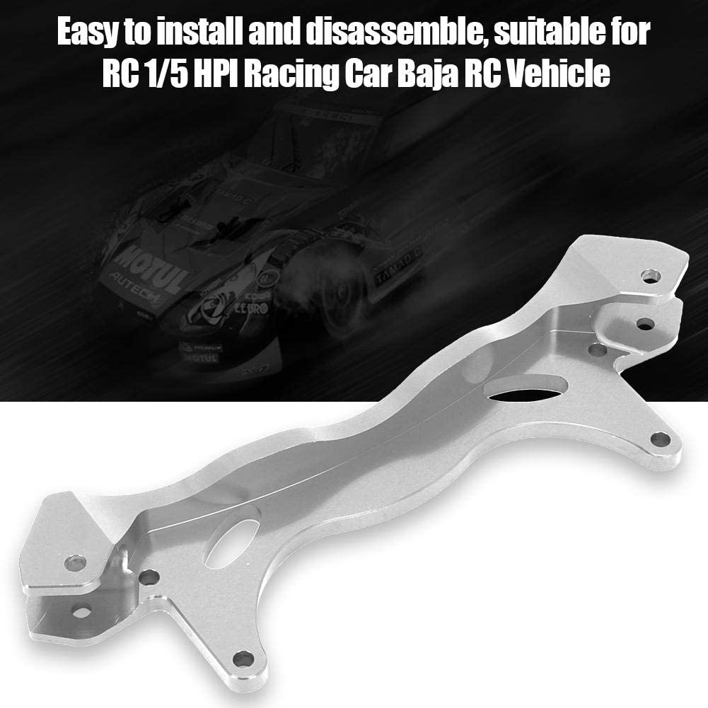 Sliver Woyisisi Durable Aluminum Alloy Rear Shock Brace for RC 1//5 HPI Racing Car Baja RC Vehicle Compatible with 1//5 Baja HPI Racing 5B 5SC 5t 5R SS T1000 KM ROVAN