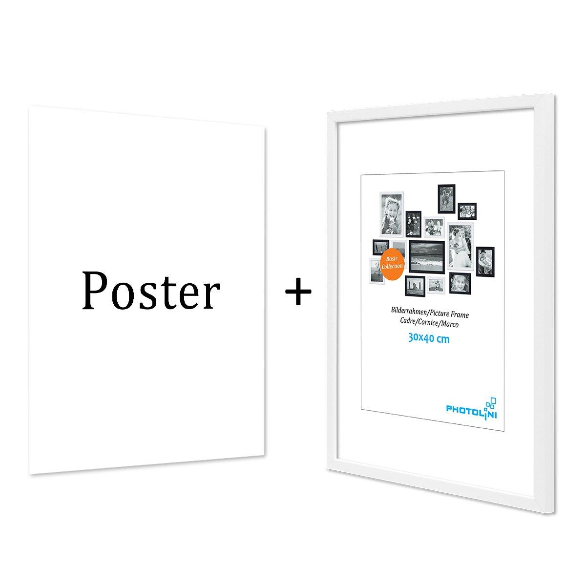 PHOTOLINI Design-Poster mit Bilderrahmen Weiss \'New York\' 30x40 cm ...