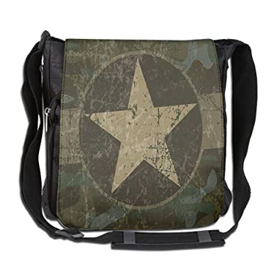 Lovebbag Grunge Dusty Dirty Design With A Star In Circle Undercover War Crossbody Messenger Bag