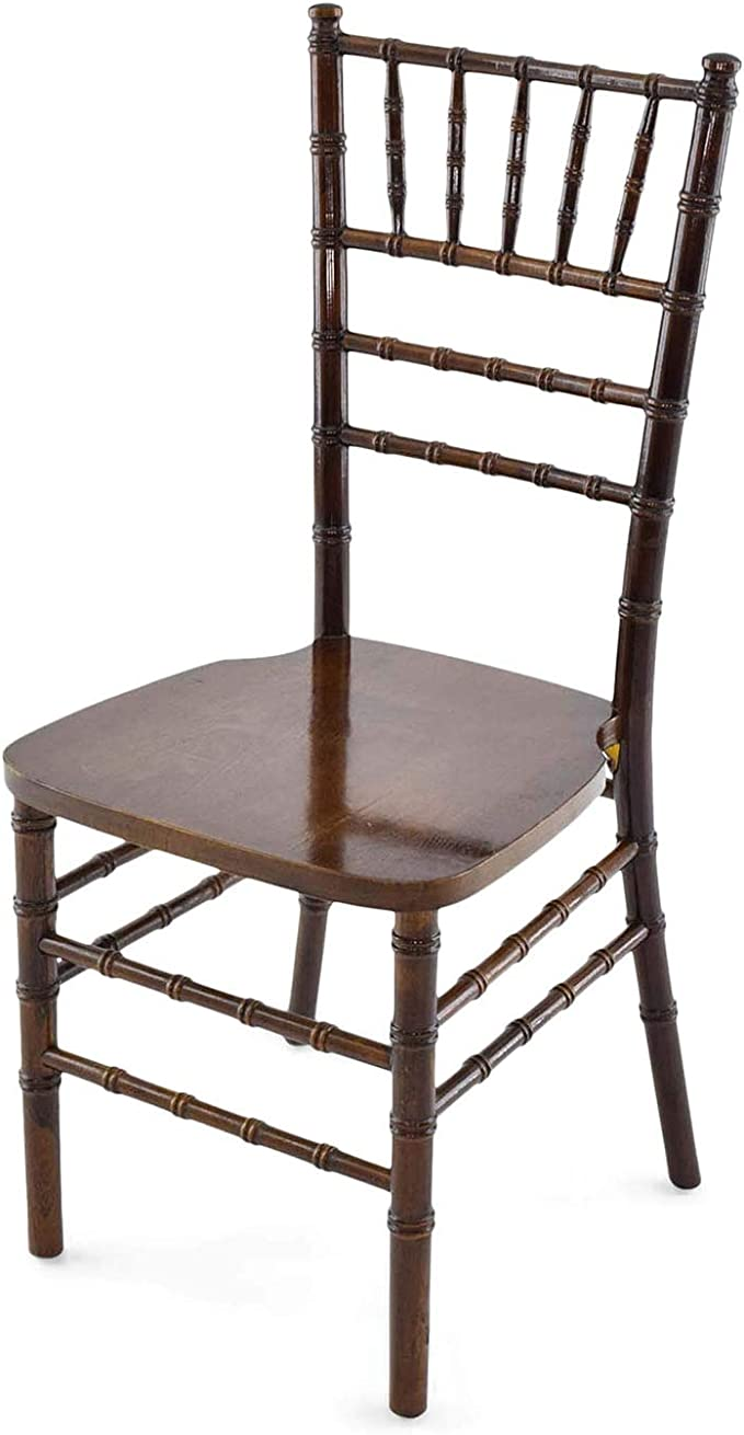 Amazon Com Eventstable Titan Series Fruitwood Resin Chiavari Chair Sturdy Steel Spindles Chair Indoor Outdoor Chair Set Chair Set For Wedding Restaurant 48 Pack Chairs