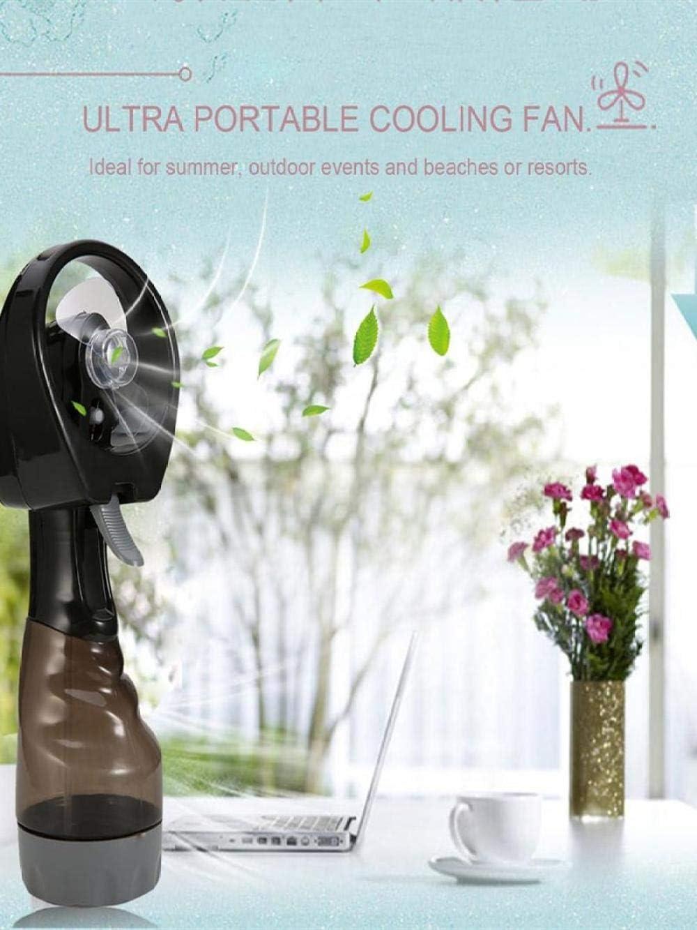 Deluxe Misting Fan Handheld Misting Fan Water Spray Fan Mini Portable Desk Fan Battery Operated Fan Fine Mist Sprayer Personal Cooling Fan for Outdoor