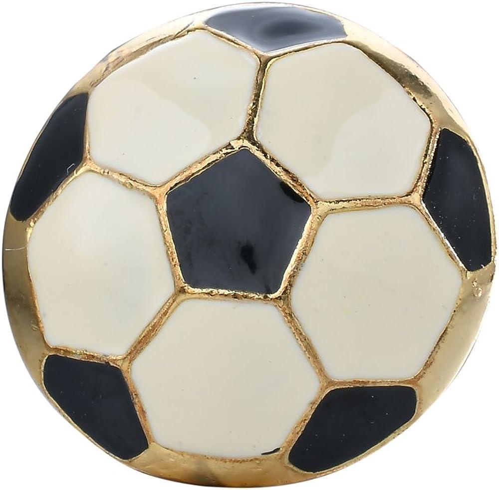 Tono de oro pintado a mano broche Pin, diseño de balón de fútbol ...
