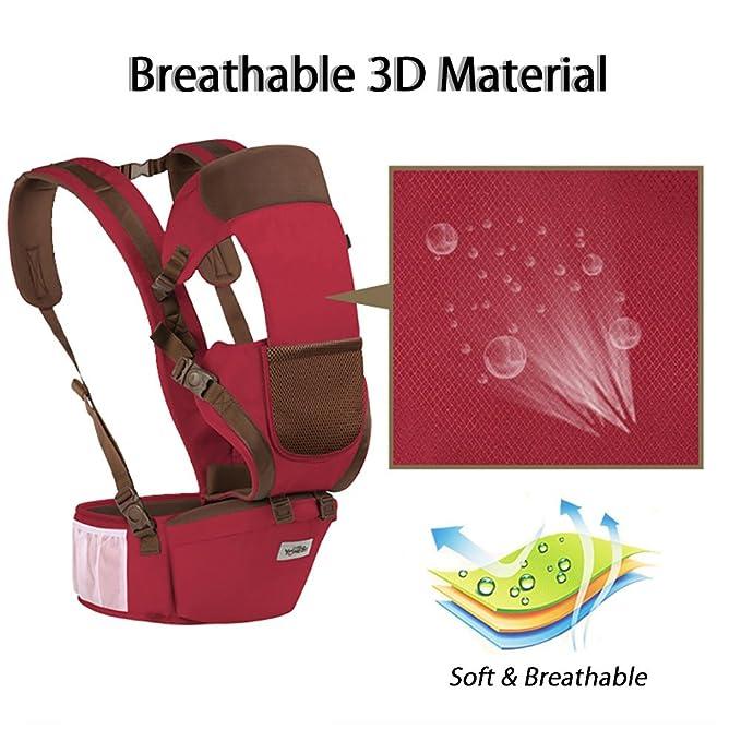 Bolsa Multifuncional Bebé Portador Infantil Asiento Trasero Apoyo Cadera Cintura