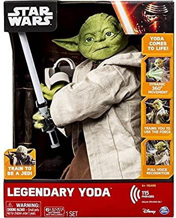 """Star Wars légendaire Yoda Collectible 16/"""" Tall Spin Master 115 phrases Ë"""
