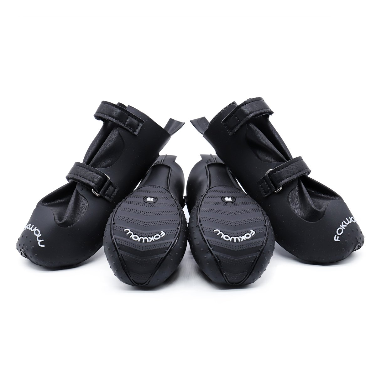 Ohana Waterproof Dog Shoes,Luxury Pet Rain Boots for Small Medium Large Dogs,Ideal Paw Protector for Rainy Snowy Days with Anti Skid Sole Black 4 Pcs