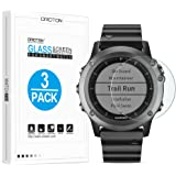 Garmin Fenix 3 Screen Protector [3 Pack], OMOTON Tempered Glass Screen Protector for Fenix 3 [9H Hardness] [Crystal Clear] [Scratch Resist] [No-Bubble]