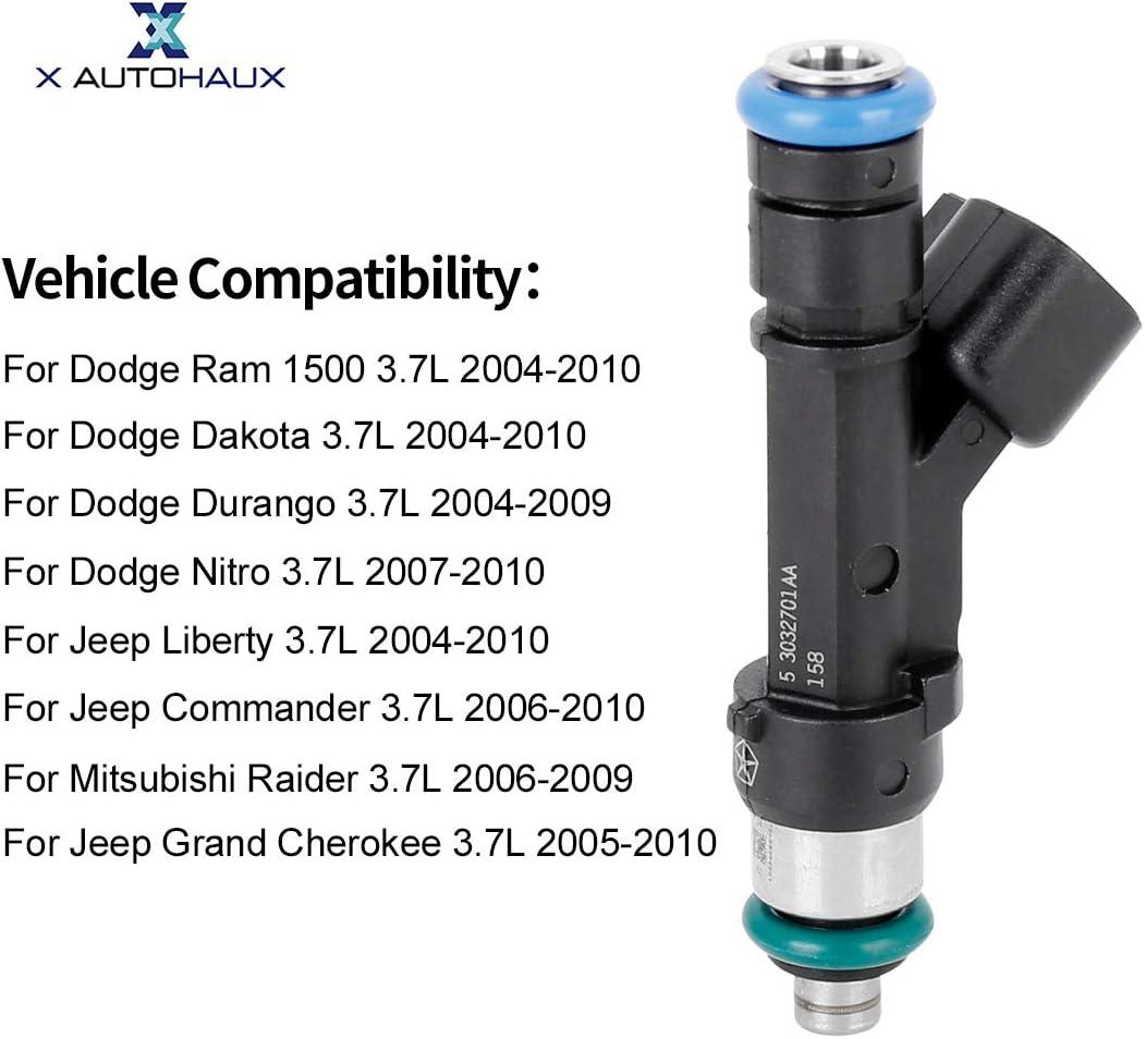 Fuel Injection X AUTOHAUX 6pcs Car Fuel Injector Nozzle for ...