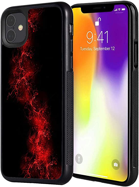 Amazon Com Iphone 11 Pro Case Black Background Red Color Paint Anti Scratch Shock Proof Black Tpu And Pc Protection Case Cover For Apple Iphone 11 Pro 5 8 Inch 2019