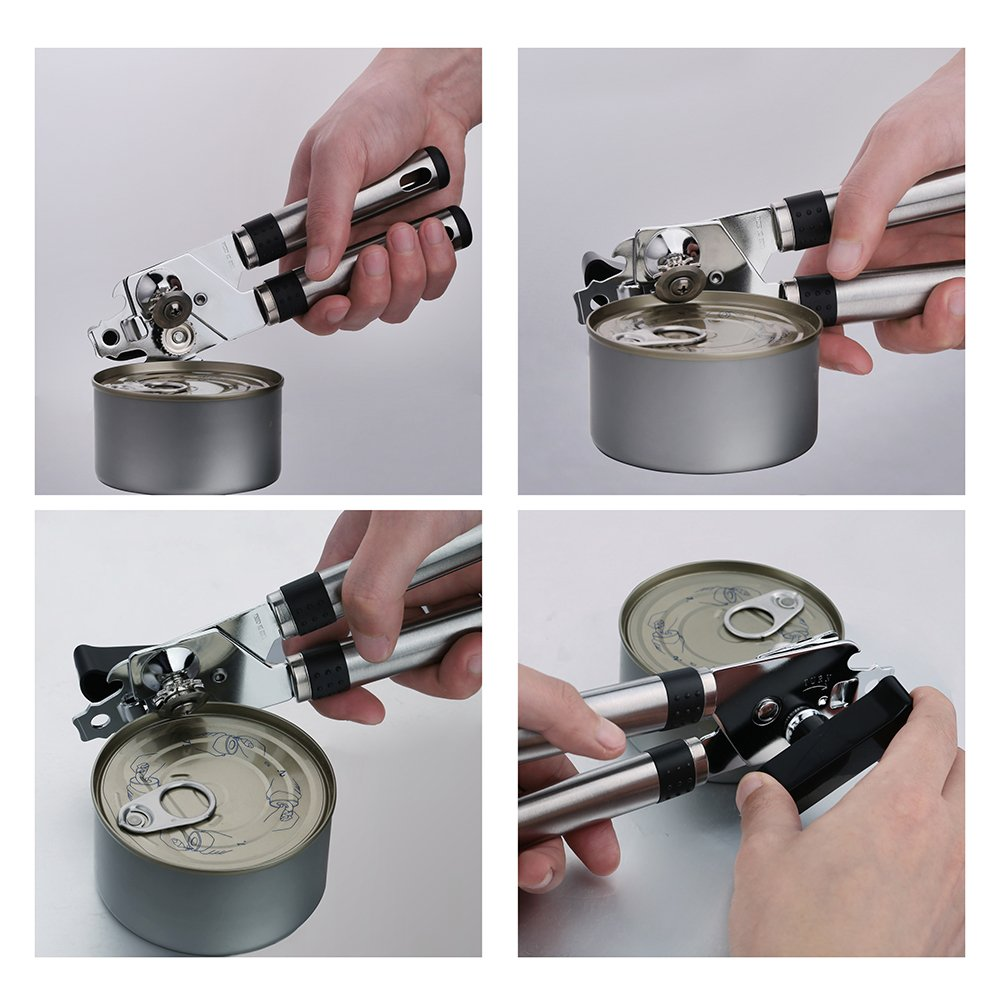 Namay Stainless Can Opener with smooth edge, safe, portable and healthy,suitable for kinds of cans
