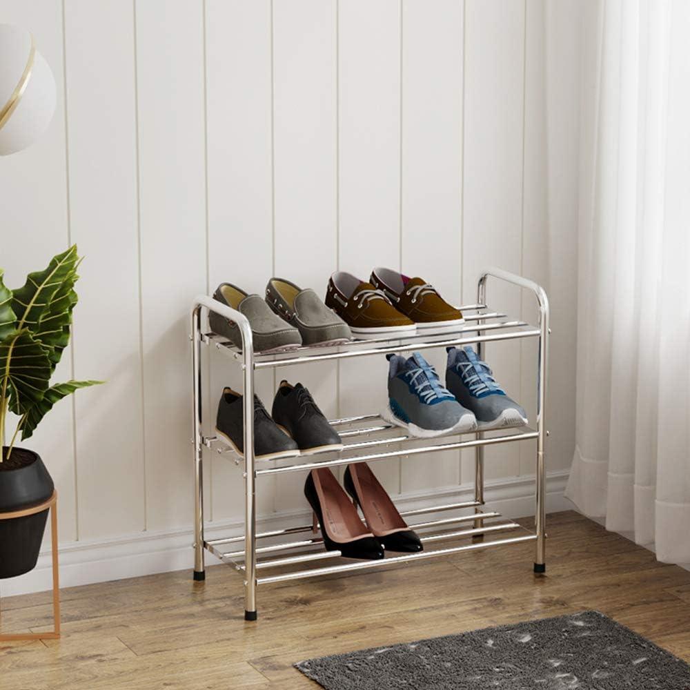 FANHAO - Zapatero de 3 niveles de acero inoxidable, organizador de zapatos, organizador de zapatos, con capacidad para hasta 12 – 16 pares de zapatos, 60 x 23 x 52 cm: Amazon.es: Bricolaje y herramientas