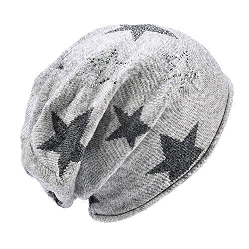 SOMALER Womens Lightweight Skully Hat Slouchy Beanie For Women Wool Knit Beanies Hat (Beanie Knit Star)