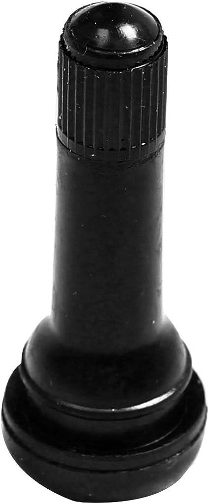 BLACKHORSE-RACING TR414 Snap-in Tire Valve Stem Medium Black Rubber Valve Stems 38mm 100 Pack