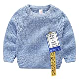 Product review for Goodluckclothes Boys'Knit Sweater Long Sleeve Crewneck Pullover for Kids 100% Cotton
