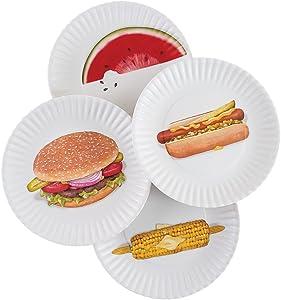 Mary Lake-Thompson BBQ Picnic 9-inch Melamine Plates, Set of 4