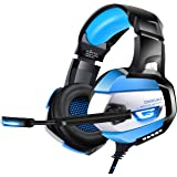 ONIKUMA Gaming Headset for PS4, PS4 Heaset with Noise Cacelling Mic, Enhanced 7.1 Surround Sound, Soft & Breathing Memory Earcup for PS4, Xbox One, PC, Mac, Nintendo Switch, Mute & Volume Control