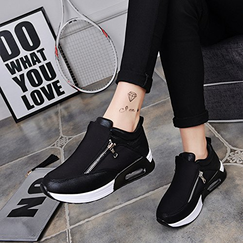 Shoes Cushion Hasag Wedges Shoes Black Thick Fashion Shoes Sports Women'S Soled Shoes Spring vwqvgrz