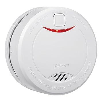 X-Sense Detector de Humo Alarma de Incendios Con Sensor Fotoeléctrico DS32, 10 Años Vida Útil