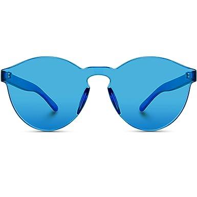 WearMe Pro - Gafas de Sol Grandes Redondas Modernas (Azul ...