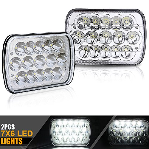 2pcs DOT Approved 5x7 6x7 inches 45w Rectangular Sealed Beam