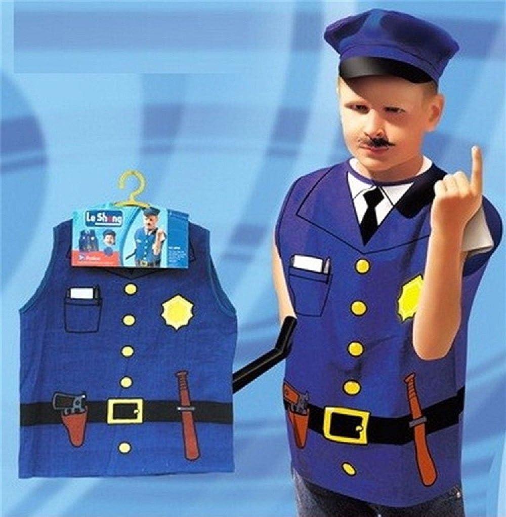 ハロウィンコスプレコスチューム子role-playing Clothes Firefighters警察パーティーシェフサービスエンジニア  ダークブルー B075MYWPZR