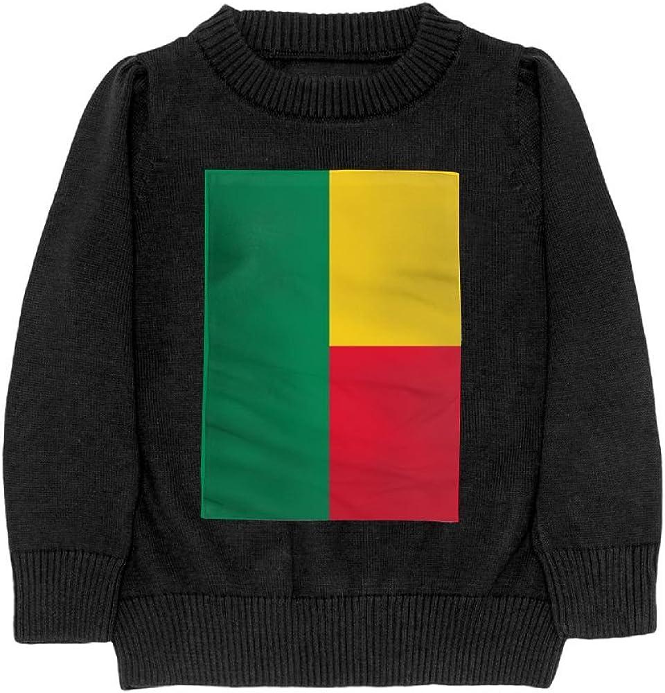 DTMN7 Flag Of Benin Teens Sweater Long Sleeves Crew-Neck Youth Athletic Casual Tee Junior Boys