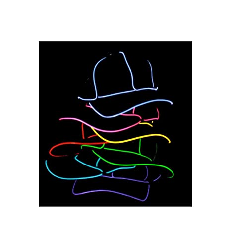 Amazon.com: Light Up EL Wire Hat White: Toys & Games