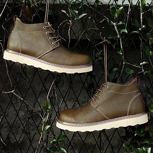 Martin Cachi Autunno Dentro Jamron Inverno Stivali Caldo Grande Uomo Felpa Impermeabile Taglia Allacciare Caviglia Comfort ax0fUq