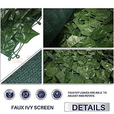 Windscreen4less Artificial Faux Ivy Leaf Decorative Fence Screen Ivy Leaf Decorative Fence Screen