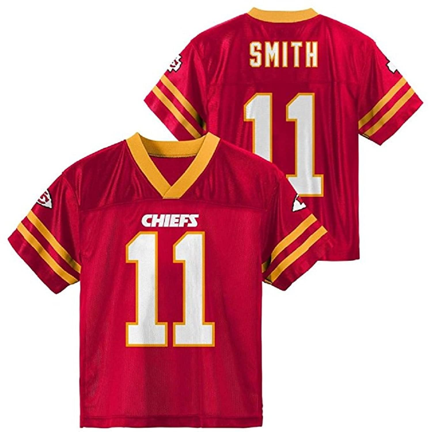 new style 2b607 ca804 Alex Smith Kansas City Chiefs Red Player Home Jersey Kids ...