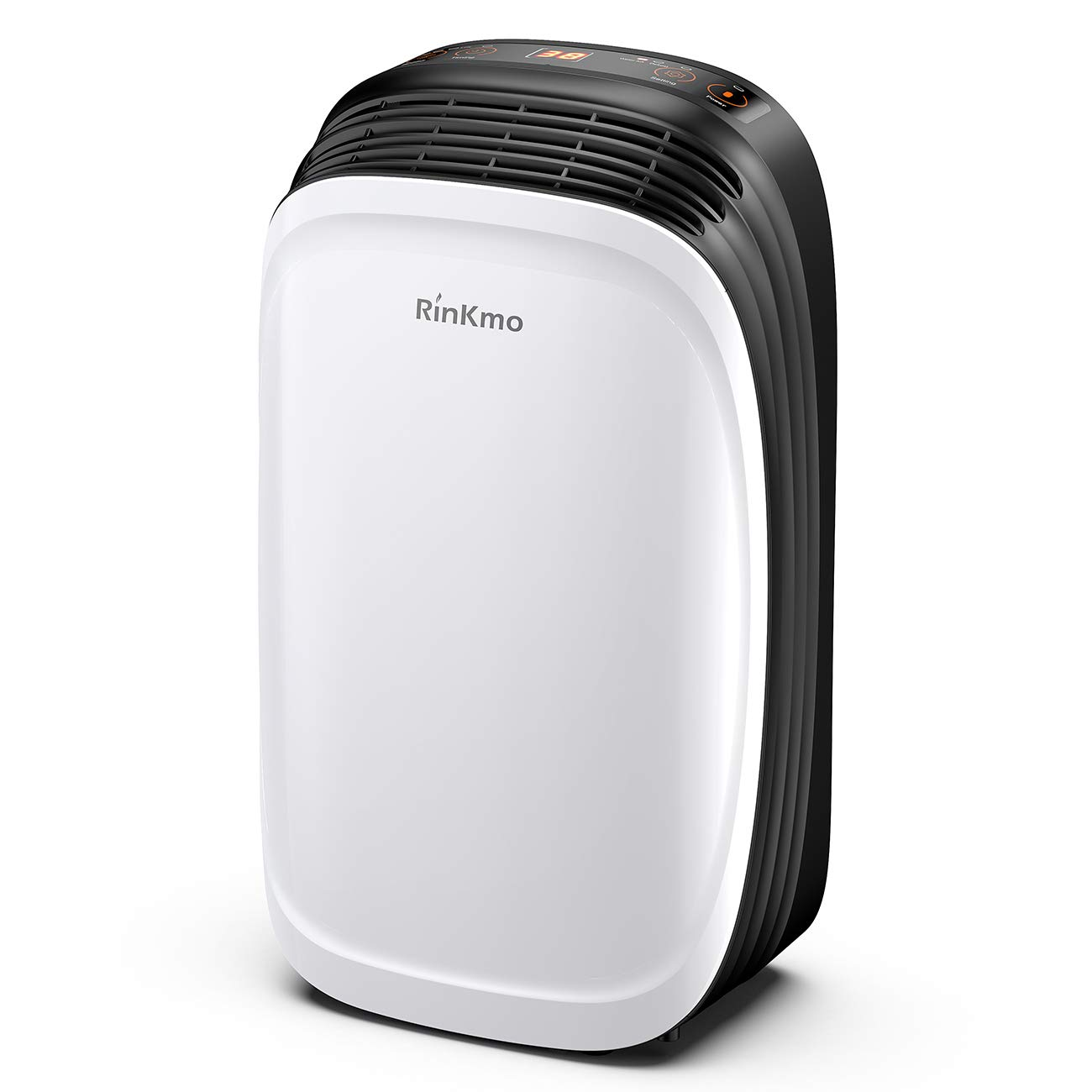 RINKMO 30 Pint Dehumidifier for Home Basements Bedroom Garage, Safe Mid Size Portable Dehumidifiers for Medium Spaces up to 1050 Sq Ft with Continuous Drain Hose Outlet to Reduce Moisture by RINKMO